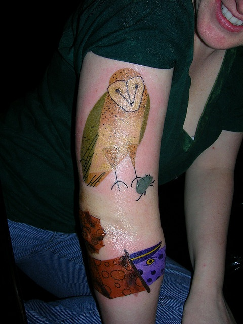tattoo sleeve inspired by charley harper