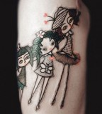three girls tattoo by noon