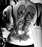 two headed skeleton tattoo
