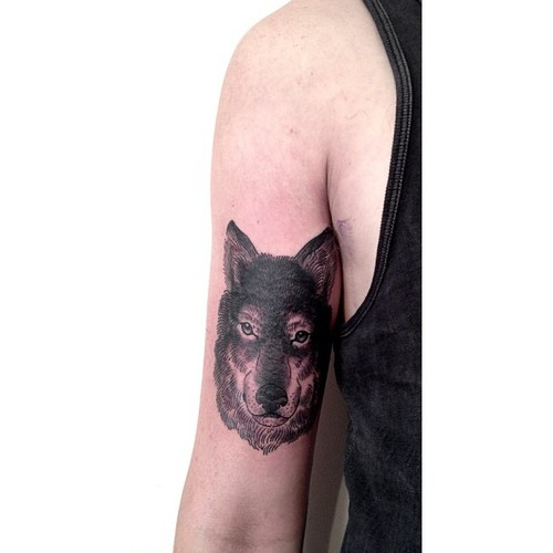 wolf tattoo by victor j webster