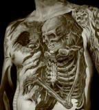 3D skeleton tattoo