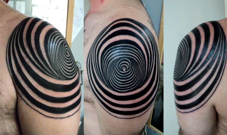Abstract shoulder tattoo