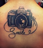 Adorable camera tattoo