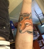 Adorable fox tattoos