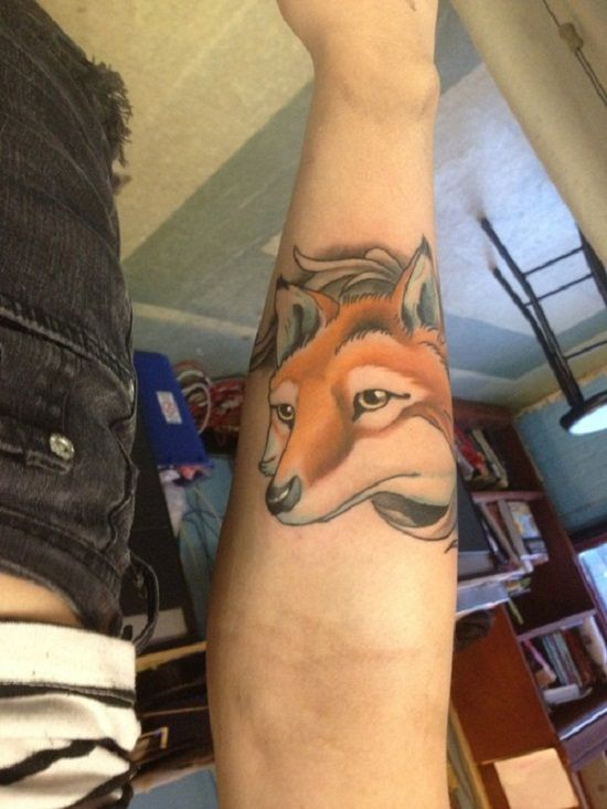 Great design fox tattoos