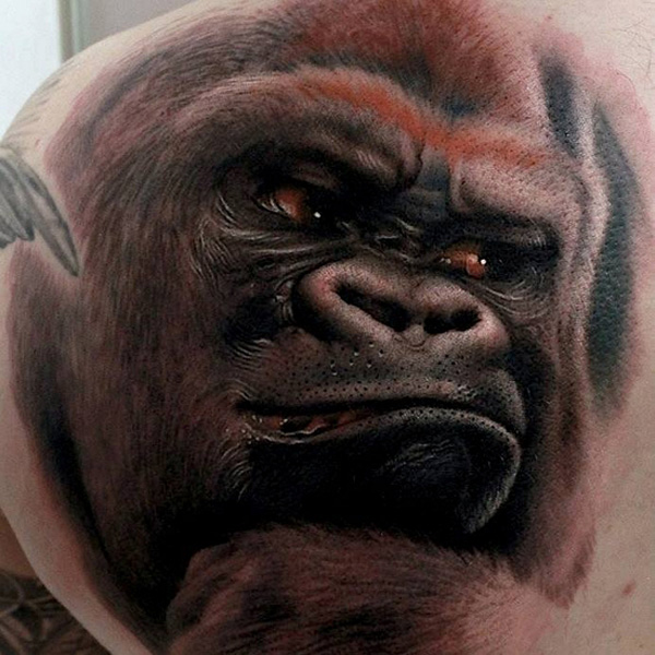 Amaizing monkey tattoo