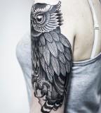 Amaizing owl tattoo