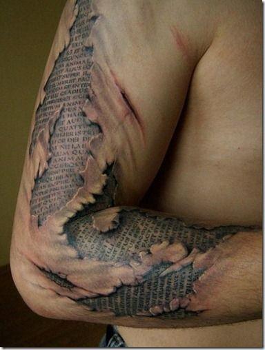 Amazing arm 3D tattoo