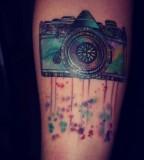 Amazing camera tattoo