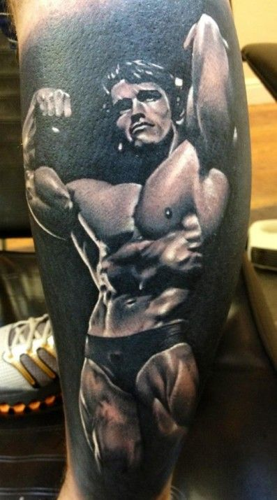 Arnold Schwarcneger tattoo