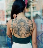 Asian Geisha tattoo