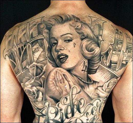 Awesome Marilyn Monroe tattoo