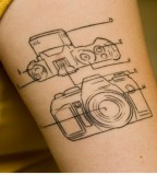 Awesome camera tattoo