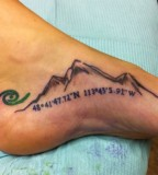 Awesome mountains foot tattoo