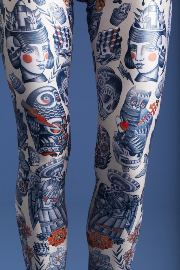Awesome tattoo on leg