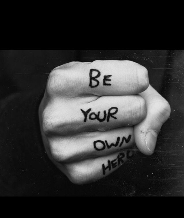 Be your own hero tattoo