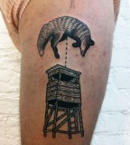 Bear tattoo by Philippe Fernandez