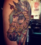 Beauty horse tattoo