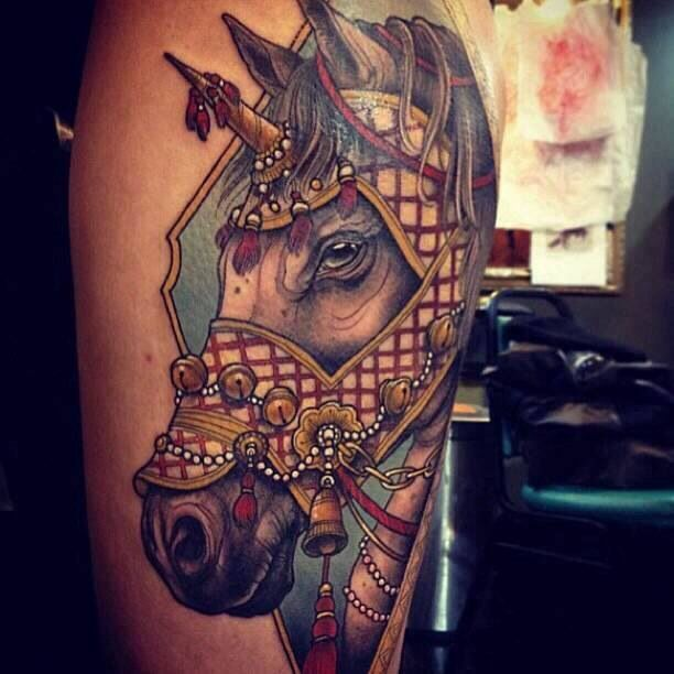 Beauty horse tattoo