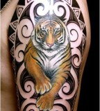 Beauty tiger tattoo