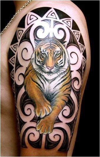 Beauty tiger tattoo