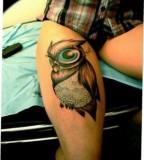 Big eyes owl tattoo