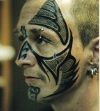 Black face tatttoo for men