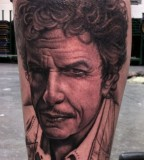 Bob Dylan tattoo by Bob Tyrell