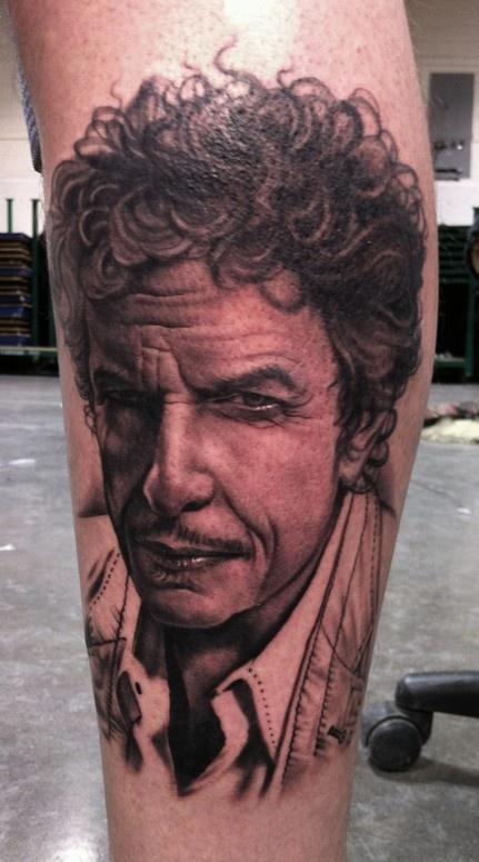 Bob Dylan tattoo by Bob Tyrell
