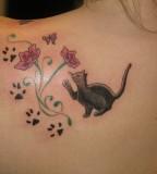 Brainsy cat tattoo