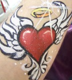 Bright heart tattoo