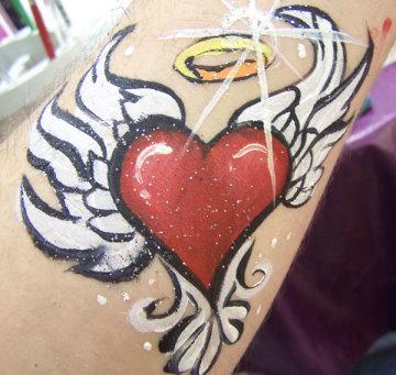 Bright heart tattoo
