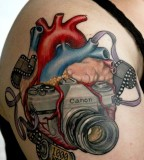 Canon camera tattoo