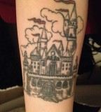 Castle fairy tale tattoo