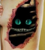 Cat 3D tattoo