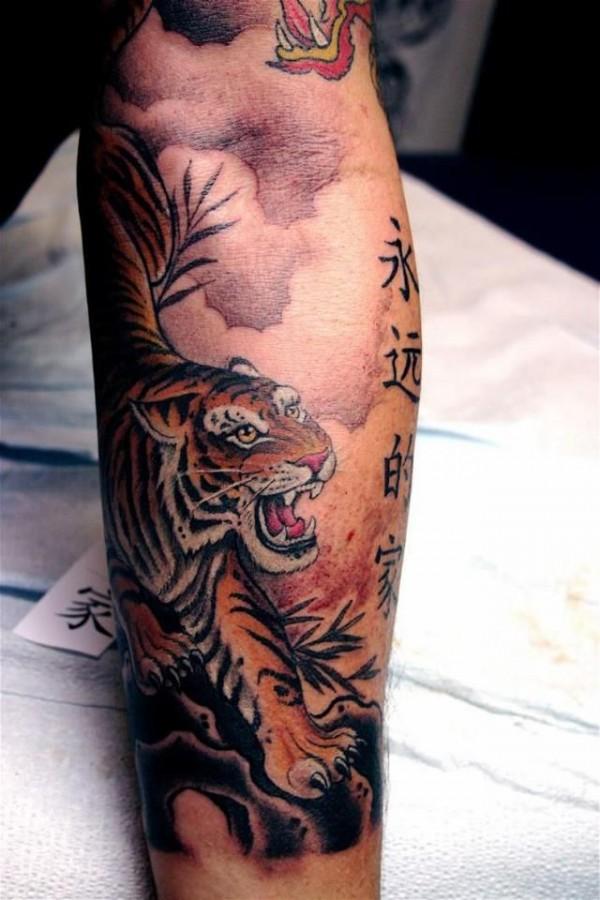 China tiger tattoo