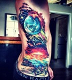 Colorful 3D tattoo