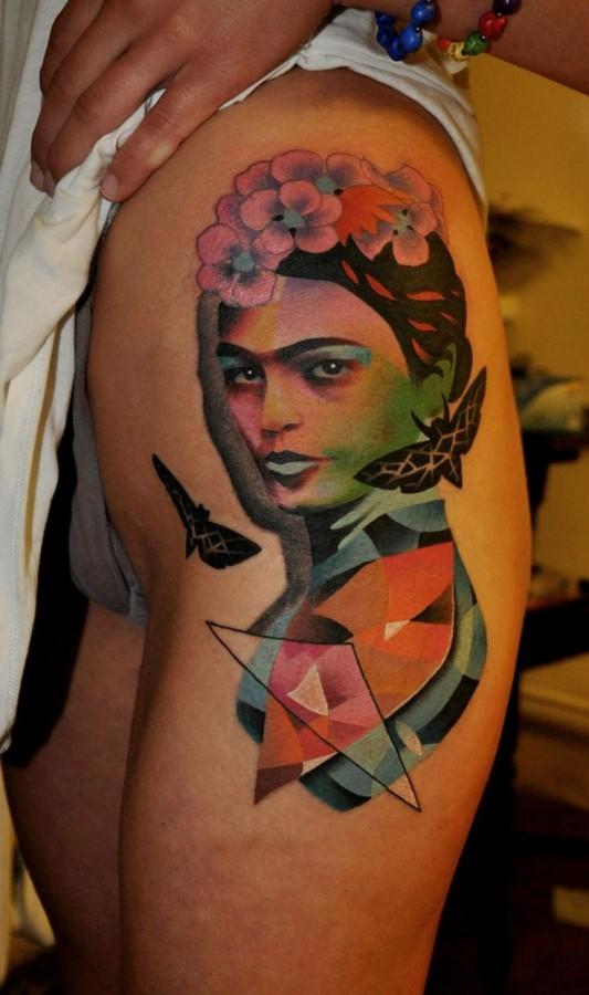 Colorful Women tattoo by Marcin Aleksander Surowiec