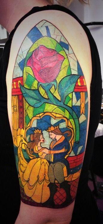 Colorful fairy tale tattoo