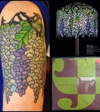 Colorful tattoos by Andy Perez  glass pattern