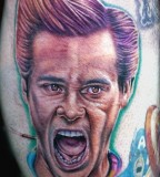 Comedian Portrait tattoo