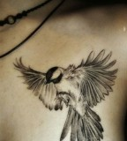 Cool  flying bird tattoo