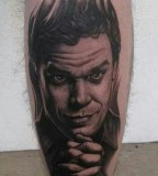 Dexter tattoo by Bob Tyrell
