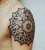 Doily Mandala tattoo