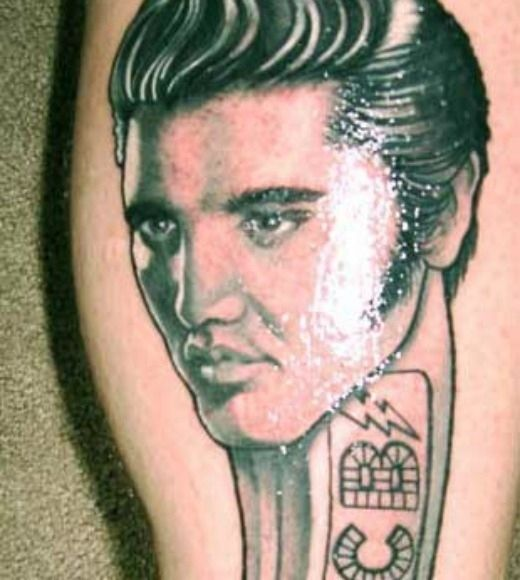 Elvis Presley crazy tattoo
