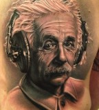 Excellent Einstein portrait tattoo
