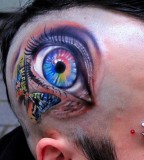 Eye and butterfly tattoo