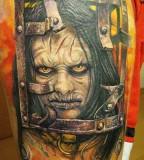 Face tattoo by Miroslav Pridal