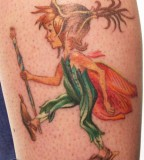 Fairy boy fairy tale tattoo