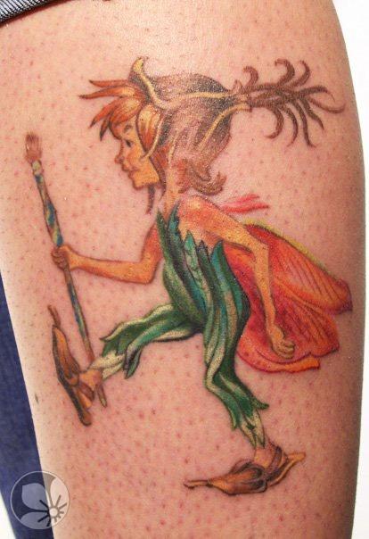 Fairy boy fairy tale tattoo